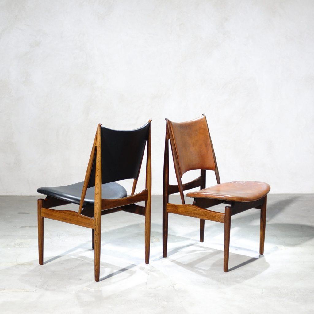 Finn Juhl Rosewood 'Egyptian' Chair for Niels Vodder