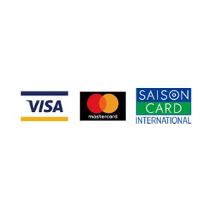2017年11月より クレジットカード決済が可能になりました。(VISA,MASTER,SAISON CARD)